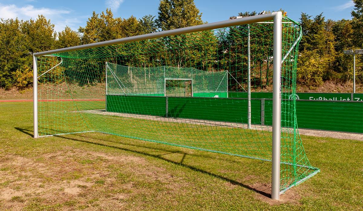 Feststehend Fußballtor mit Netzbügel