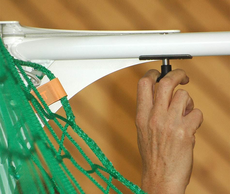 Handballtor Netzbügel klappbar