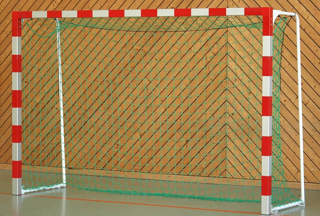 Handballtor Rotabgesetzt